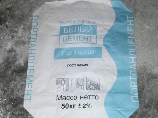 белый цемент 500