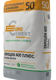 Евроцемент М400 Д0 (ЦЕМ I 32,5Н), мешок 50кг