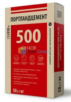 CEMFIX Цемент М500 Д0 (ЦЕМ I 42,5Н), мешок 50кг