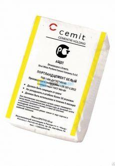 Цемент Белый CEM I 52,5 N (ПЦБ 1-500 Д0) Cemit (Египет)
