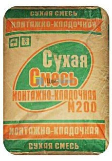 Сухая смесь М200 монтажно-кладочная AVM