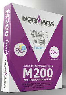 Сухая смесь М200 монтажно-кладочная NORMADA