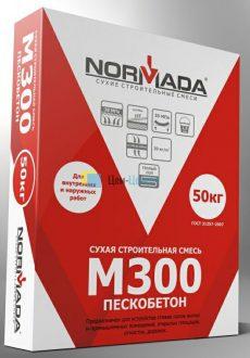 Сухая смесь М300 пескобетон NORMADA