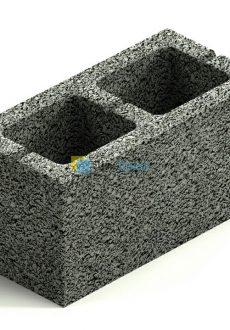 Керамзитобетонный блок (2х щелевой)