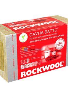 Базальтовая вата Rockwool Сауна Баттс В 1000х600х50 мм 8 шт (4,8 м2)