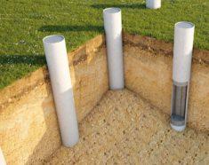 Фундамент из асбестоцементных труб
