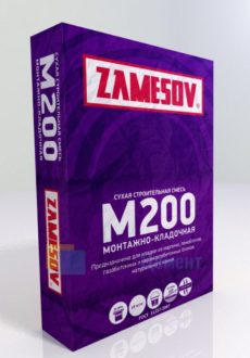 СУХАЯ СМЕСЬ М200 МОНТАЖНО КЛАДОЧНАЯ ZAMESOV, мешок 40кг