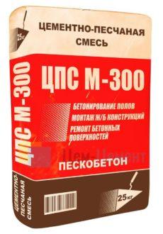СУХАЯ СМЕСЬ М300 ПЕСКОБЕТОН, мешок 25кг